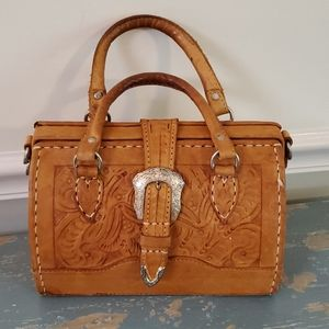 Vintage American West Hand Tooled Purse